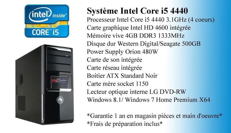 Système Intel Core i5 4440