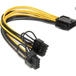 Cable d'extension PCI-E 8 broches vers 2 x 8 broches / 6 broches AxGear